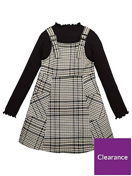 v-by-very-girls-check-pinafore-dress-with-lettuce-edge-high-neck-top-multi