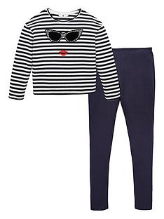 v-by-very-girls-2-piece-stripe-long-sleeve-t-shirt-and-leggings-set-navy