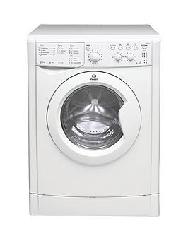 Indesit   Iwdc6125 1200 Spin, 6Kg Wash, 4Kg Dry Washer Dryer - White