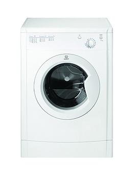Indesit Indesit Ecotime Idv75 7Kg Load Vented Tumble Dryer - White Picture