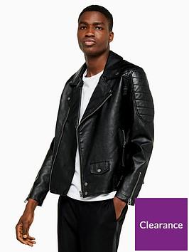topman-topman-faux-leather-biker-jacket-black