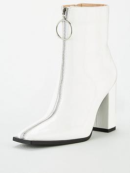 Public Desire Public Desire Payback Ankle Boot - White Patent Picture