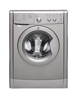 Indesit Iwdc6125S 1200 Spin 6Kg Wash 5Kg Dry Washer Dryer  Silver