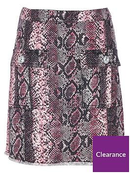river-island-girls-snake-print-a-line-skirt-pink