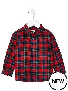 river-island-mini-mini-boys-check-print-long-sleeve-shirt-red