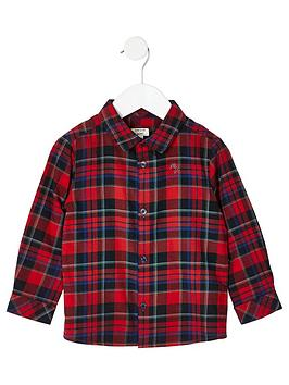 river-island-mini-mini-boys-check-print-long-sleeve-shirt-red