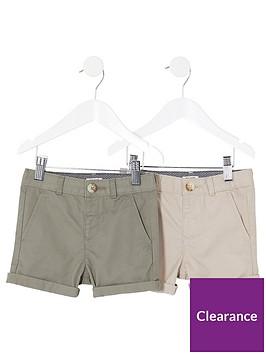 river-island-mini-boys-chino-shorts-multipack-stonekhaki