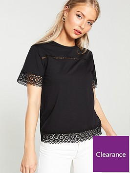 v-by-very-lace-trim-top-black