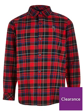 river-island-boys-check-print-long-sleeve-shirt-red