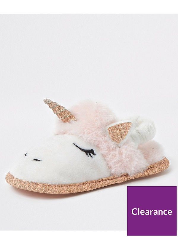 ZONE Girls Unicorn Slip On Slipper