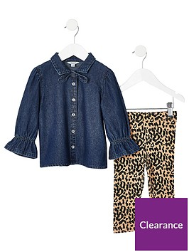 river-island-mini-girls-denim-shirt-and-legging-outfit-multi