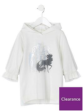 river-island-mini-mini-girls-unicorn-hooded-jumper-dress-white