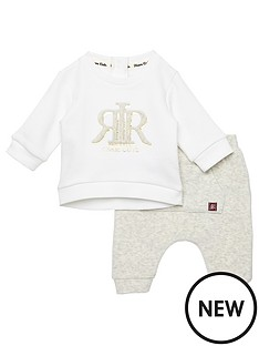 river-island-baby-baby-boys-embossed-sweatshirt-outfit-white
