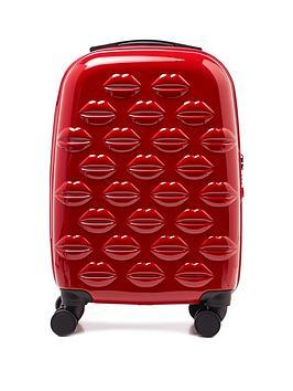 Lulu Guinness Lulu Guinness Red Small Lips Hardside Spinner Case Picture