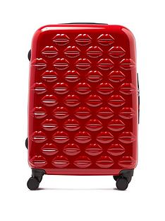 lulu-guinness-red-medium-lips-hardsided-spinner-case
