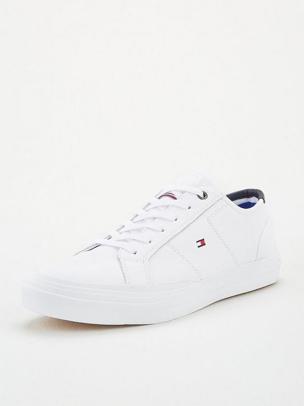 100% authentic quality design best deals on Tommy Hilfiger Core Corporate Flag Trainers - White | littlewoods.com