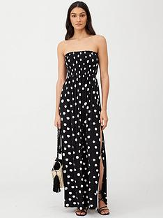 v-by-very-bandeau-maxi-beach-dress-spot-print