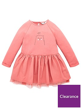 v-by-very-girls-bear-graphic-mesh-2-in-1-sweater-dress-pink