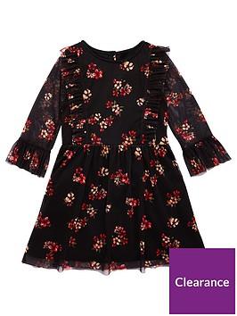 v-by-very-girls-floral-printed-mesh-dress-multi