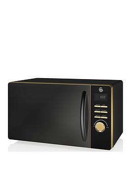 Swan Swan Swan Gatsby Range 23-Litre Digital Microwave - Black/Gold Picture