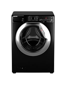 Hoover   Dwoa411Ahc8B-80 11Kg Load, 1400 Spin Washing Machine - Black/Chrome Door