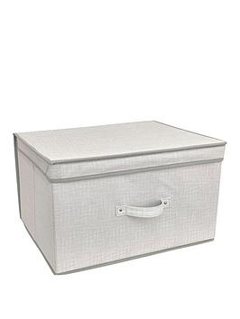 Very Linen Look Jumbo Storage Chest Picture