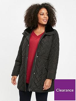 evans-diamond-quilt-faux-fur-trim-coat-black