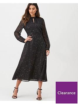 warehouse-glitter-midi-dress-black