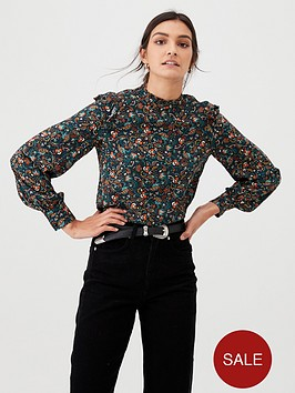 warehouse-fearne-ditsy-floral-top-multi