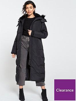 warehouse-maxi-padded-coat-black