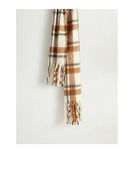 mango-brushed-check-scarf