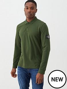 calvin-klein-jeans-monogram-badge-long-sleeved-polo-shirt-deep-depths-green