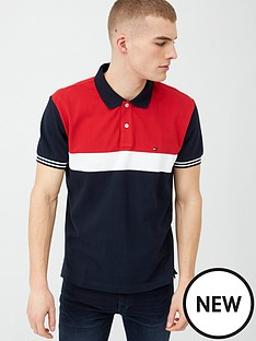 tommy-hilfiger-colourblock-polo-shirt-desert-skynavy