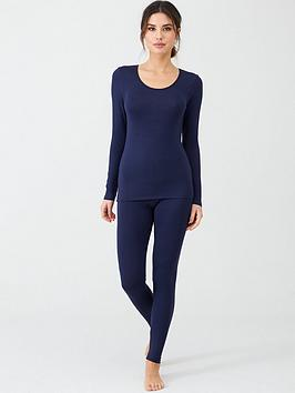 Charnos   Second Skin Leggings - Navy