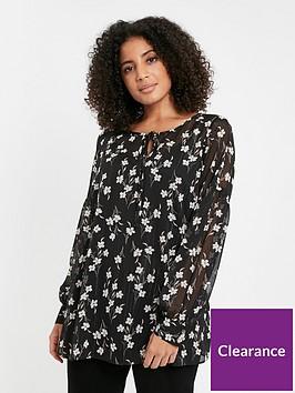 evans-daisy-sparkle-chiffon-blouse-multi