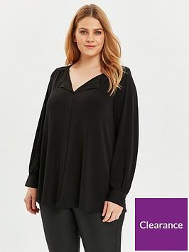 evans-v-neck-jersey-shirt-black