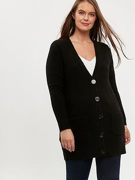 evans-button-front-cardigan-black