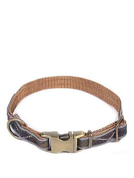 Barbour   Reflective Tartan Dog Collar - Large