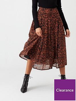 calvin-klein-georgette-pleated-skirt-leopardnbsp