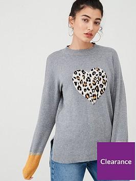 oasis-animal-heart-novelty-jumper-grey