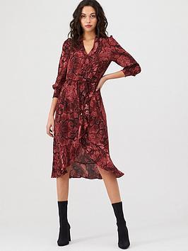 Oasis Oasis Snake Midi Wrap Dress Picture