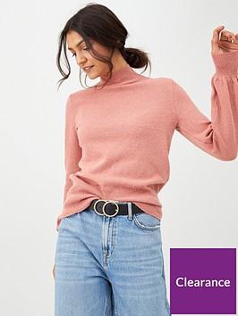 oasis-betty-balloon-sleeve-jumper-pale-pink