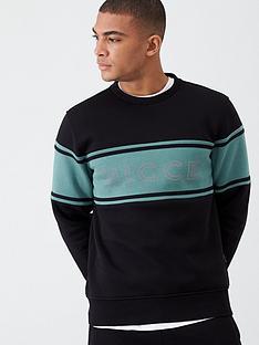 nicce-nicce-panel-sweatshirt-blackgreen