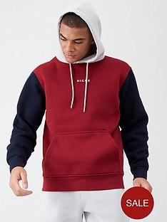 nicce-champ-oversized-hoodie-rednavygrey