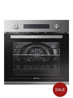 candy-candy-fcp602x-e0e-built-in-60cm-multifunction-single-oven-with-optional-installation--stainless-steel