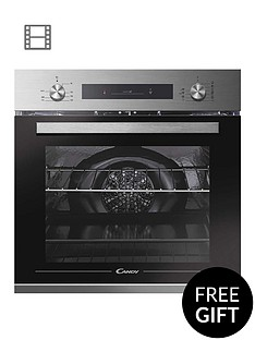candy-fcp602x-e0e-built-in-60cm-multifunction-single-oven-with-optional-installationnbsp--stainless-steel