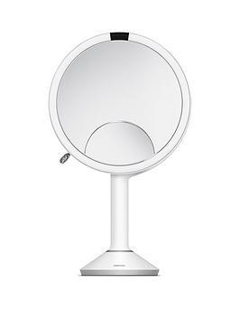 Very Simplehuman Sensor Mirror Trio - White Stainless Steel Picture