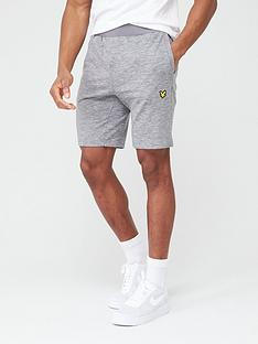 lyle-scott-fitness-superwick-shorts-mid-grey-marl