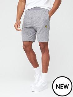 lyle-scott-fitness-superwick-shorts-mid-grey-marl