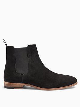 Topman Topman Topman Fenn Suede Chelsea Boots - Black Picture